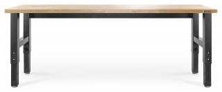 GLADIATOR® - PIANO DI LAVORO HARDWOOD da 244 x 64 cm H 72-107 cm