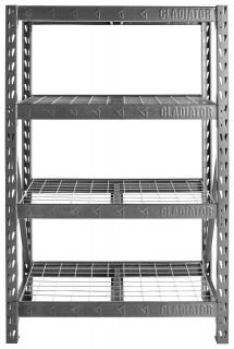 GLADIATOR® 4 Tier Rack Shelf (WxHxD 122x183x46cm)