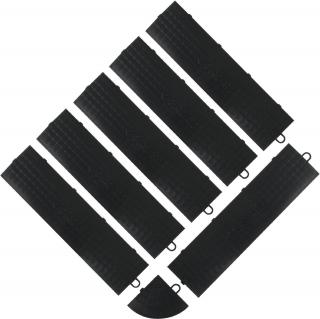 GLADIATOR® -  ABSCHLUSSPROFILE FÜR FLIESENKANTEN (6 gerade Verbindungsstücke und 1 Eckverbindung, Fe